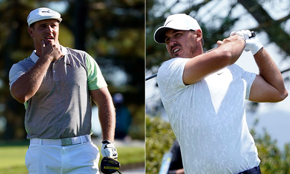 We're not likely to see a Bryson Dechambeau-Brooks Koepka pairing at the Ryder Cup, according to captain Steve Stricker. Photos: USA Today