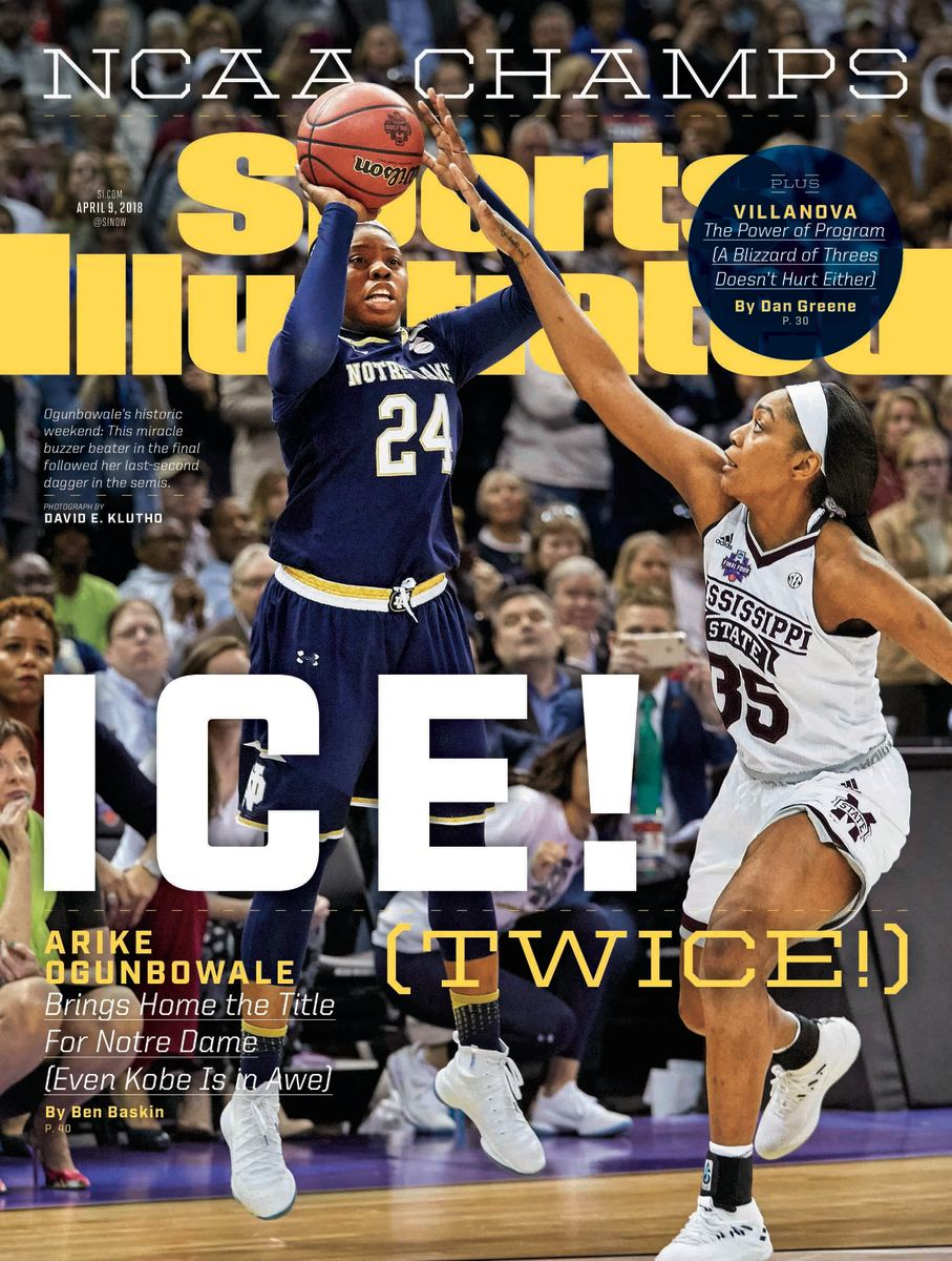 Arike Ogunbowale on the cover of Sports Illustrated