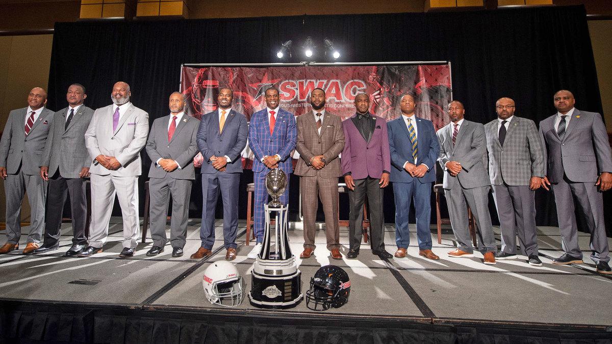 SWAC football coaches pose at media days