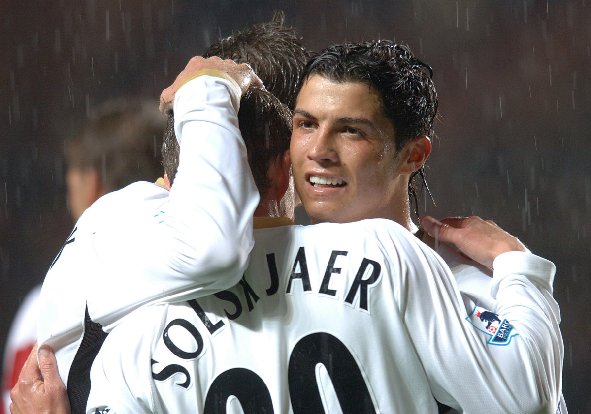 Cristiano Ronaldo and Ole Gunnar Solskjaer at Manchester United
