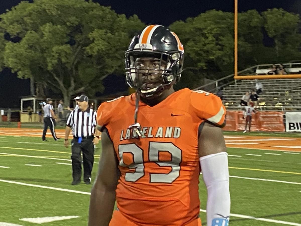 Gabe Dindy, Defensive Line, Lakeland (Fla.) High School - versus Clearwater