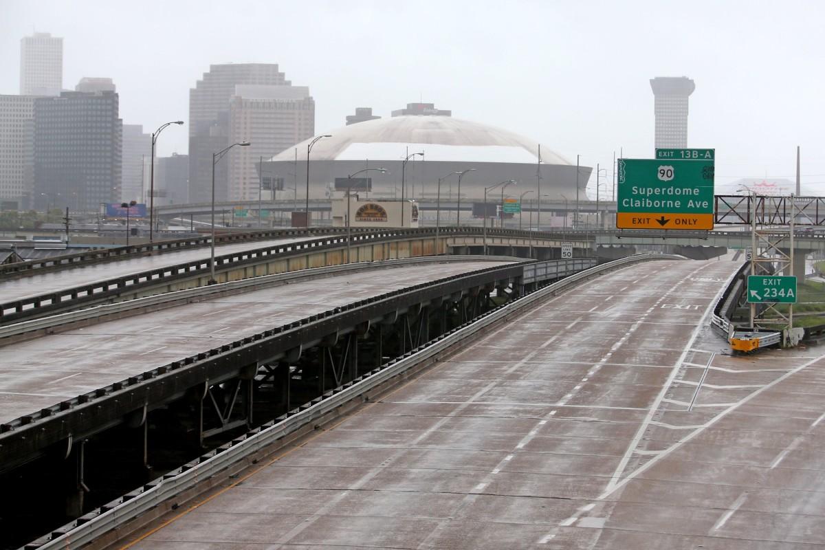 Superdome before Hurricane Ida