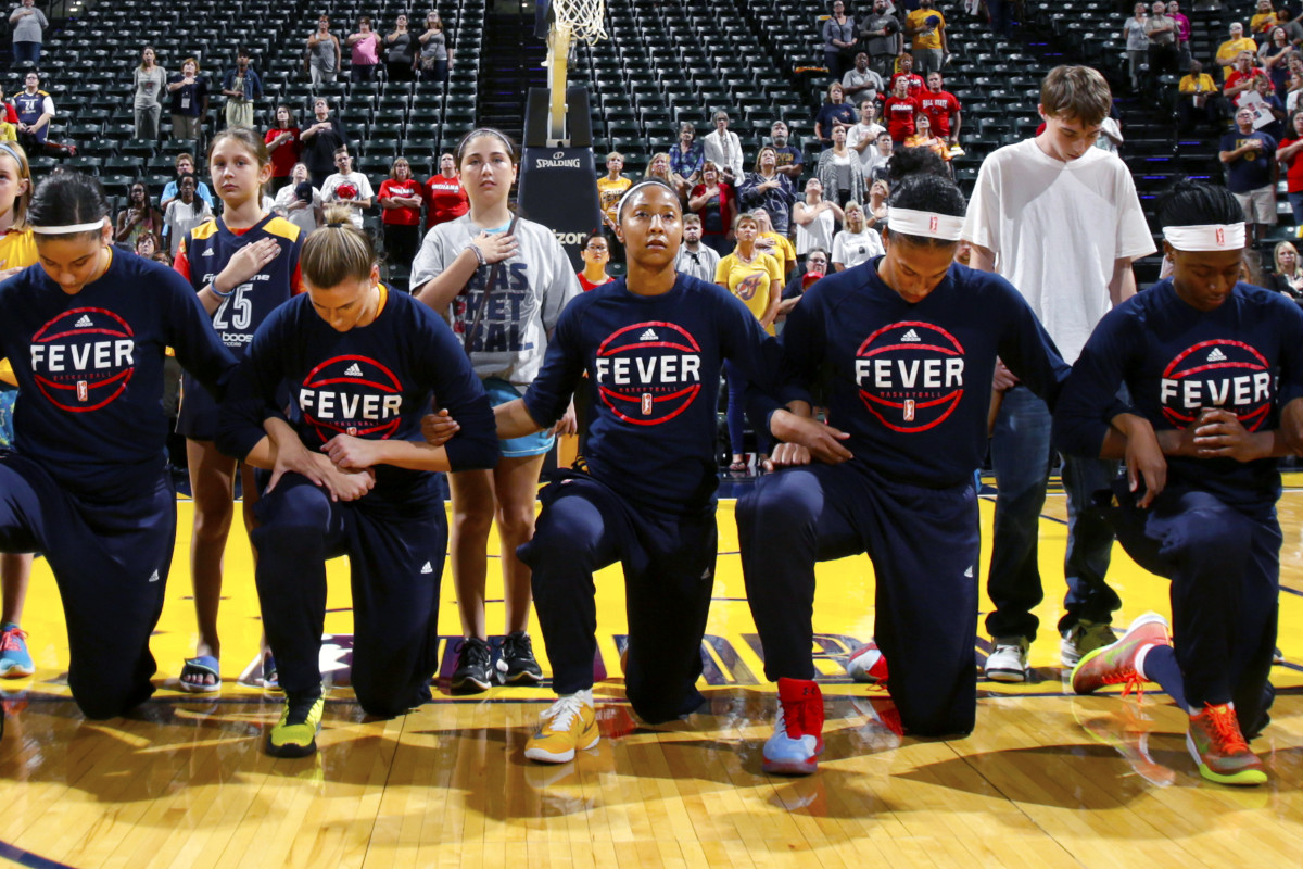 Among the bold first followers: the entire Indiana Fever, in the WNBA.
