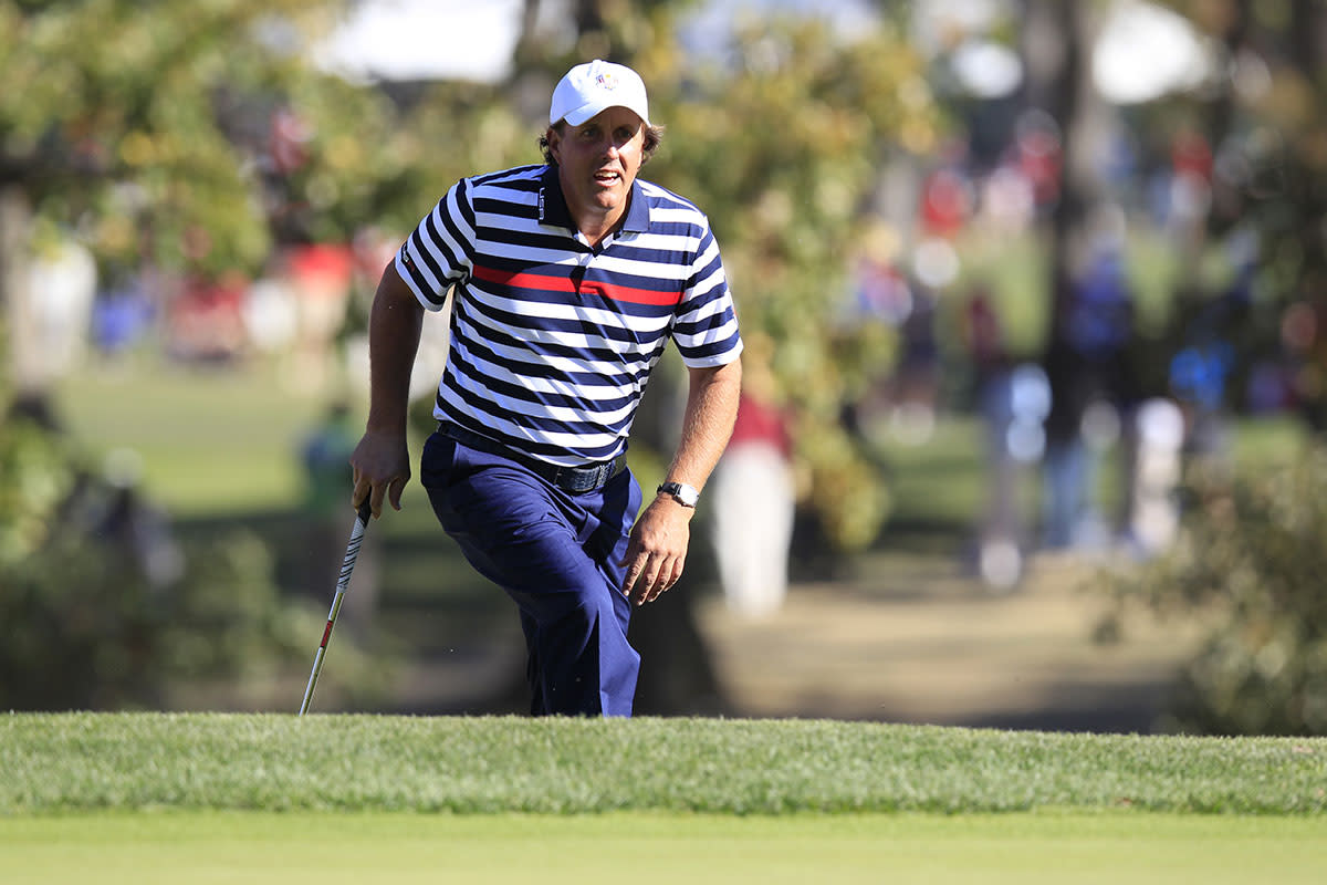 Phil Mickelson plays the 2012 Ryder Cup at Medinah.