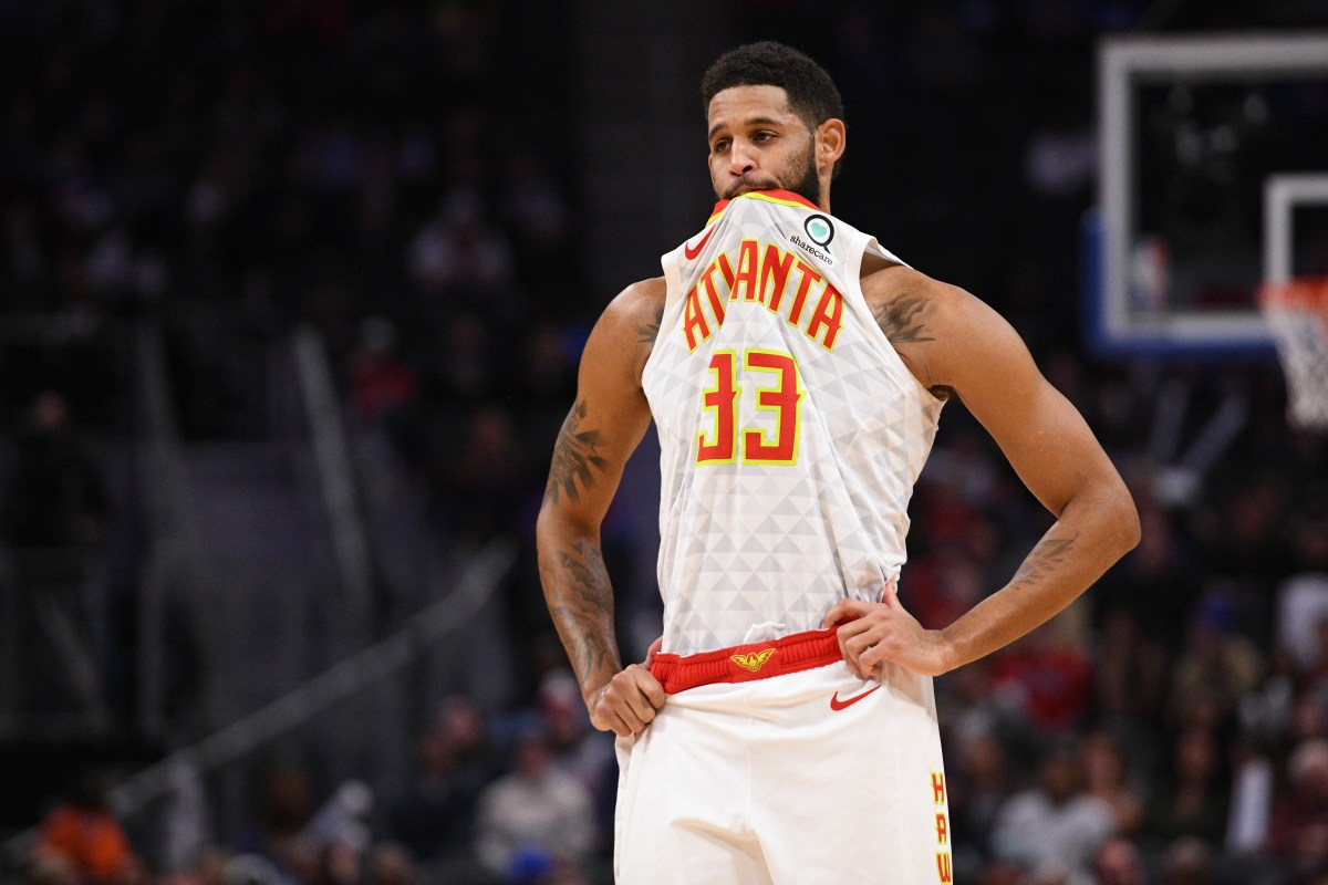 Atlanta Hawks guard Allen Crabbe during the game against the Detroit Pistons