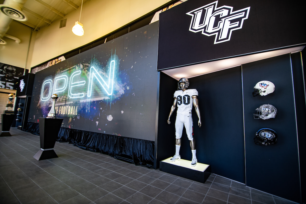 UCF Entrance with Helmets
