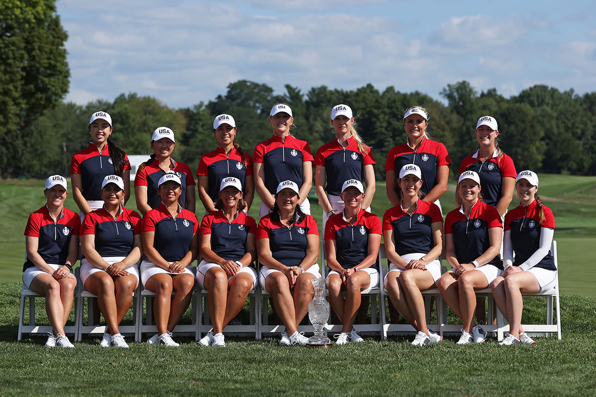 The 2021 American Solheim Cup team.