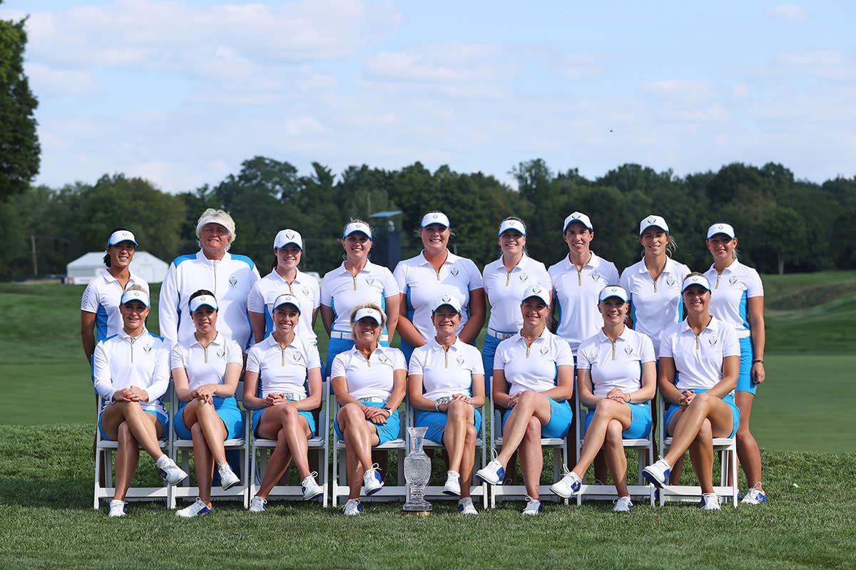 The 2021 European Solheim Cup team.