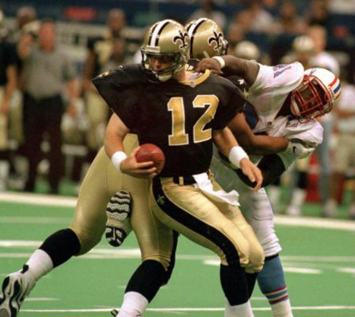 Former New Orleans Saints quarterback Billy Joe Hobert (12). Via Twitter.com