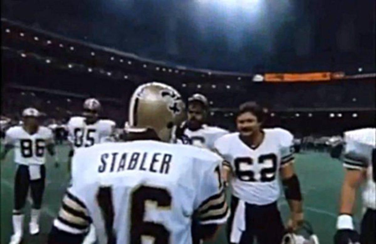 Former New Orleans Saints quarterback Ken Stabler (16). Credit: nosaintshistory.com