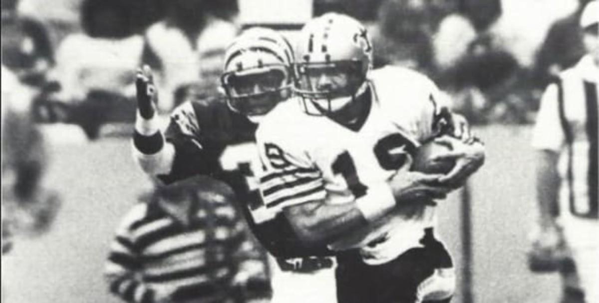 Former New Orleans Saints quarterback Dave Wilson (18). Credit: si.com