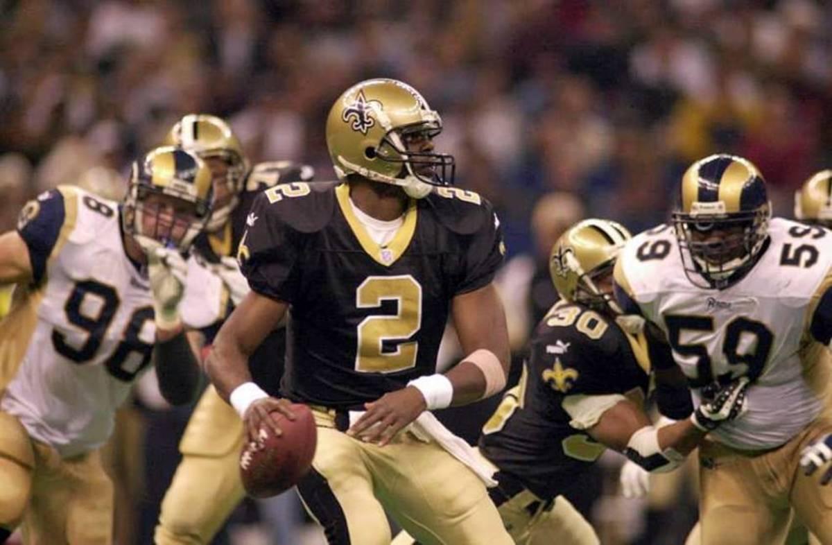 Former New Orleans Saints quarterback Aaron Brooks (2). Credit: saintshalloffame.com