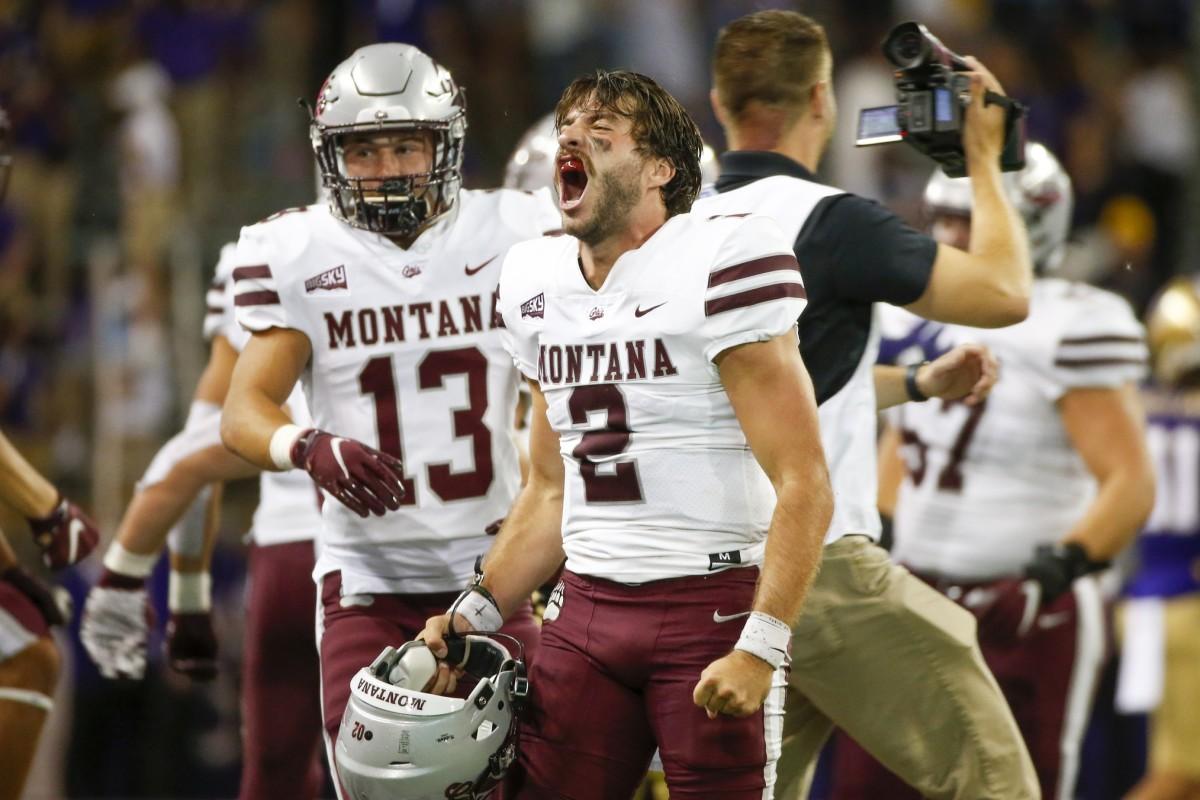 Montana quarterback Camron Humphrey. Photo by Joe Nicholson, USA TODAY Sports
