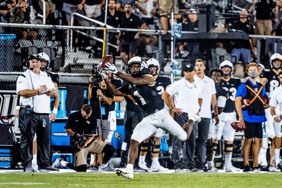 Jaylon Robinson went for 140 yards and a touchdown against Boise State. How many receiving yards and touchdowns will Robinson obtain versus Bethune-Cookman?