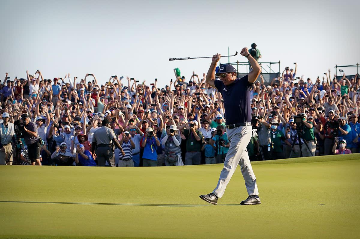 Phil Mickelson wins the 2021 PGA Championship at Kiawah.