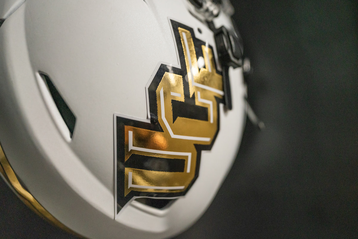 Few college football programs provide helmets with as much pizazz as UCF.