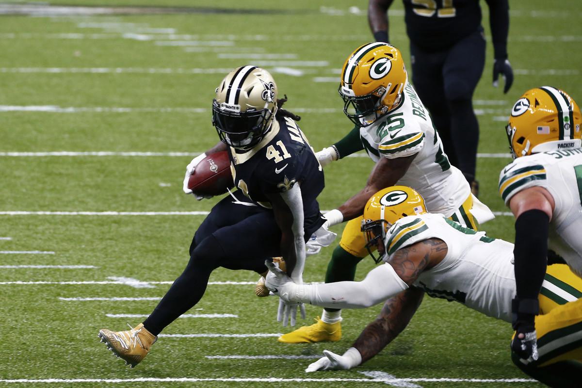 New Orleans Saints running back Alvin Kamara (41). Credit: USA Today