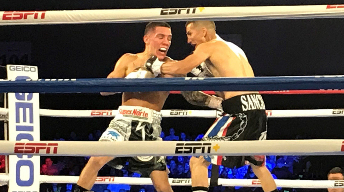 Óscar Valdez (white trunks) is being allowed to fight despite testing positive for a banned substance.
