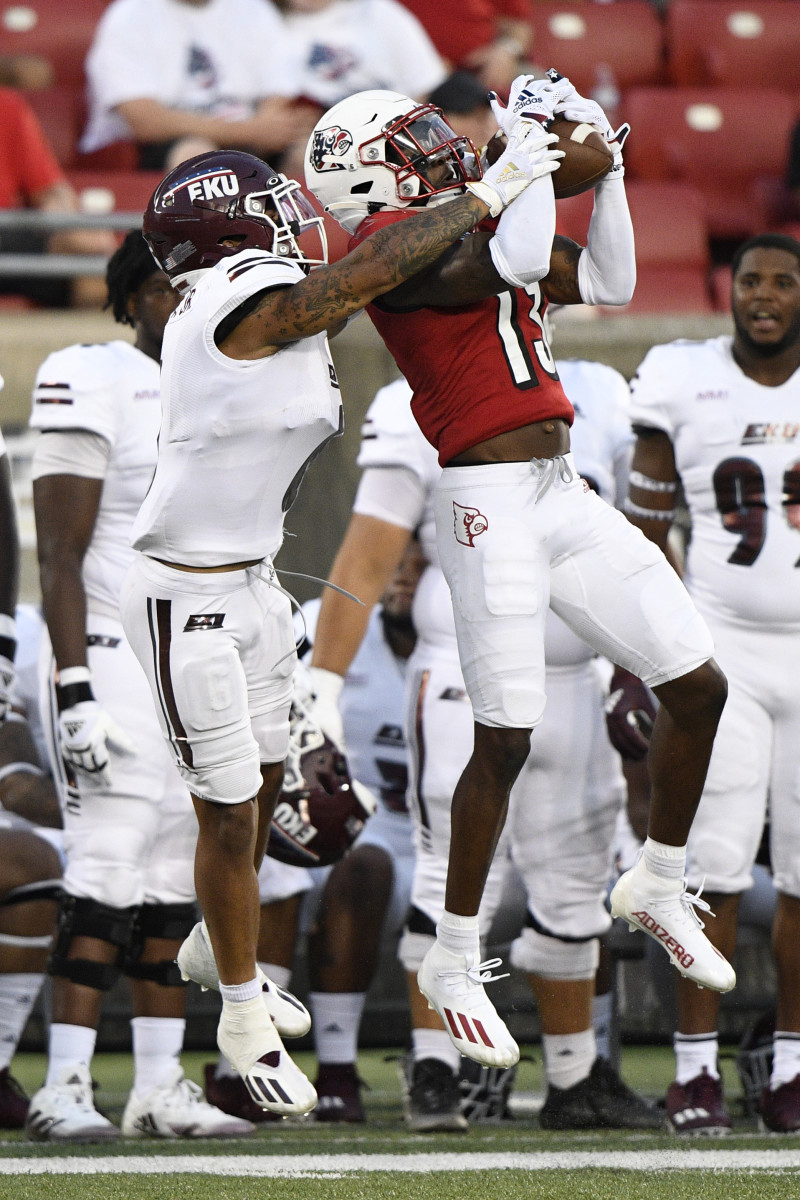 Kei'Trel Clark intercepted two passes while playing against Eastern Kentucky.