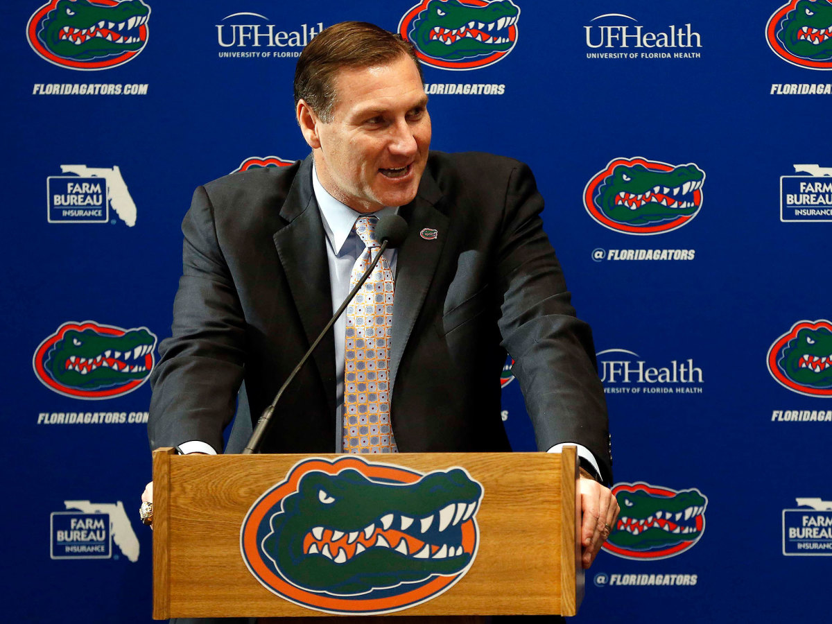 Dan Mullen speaks at his introductory press conference at Florida