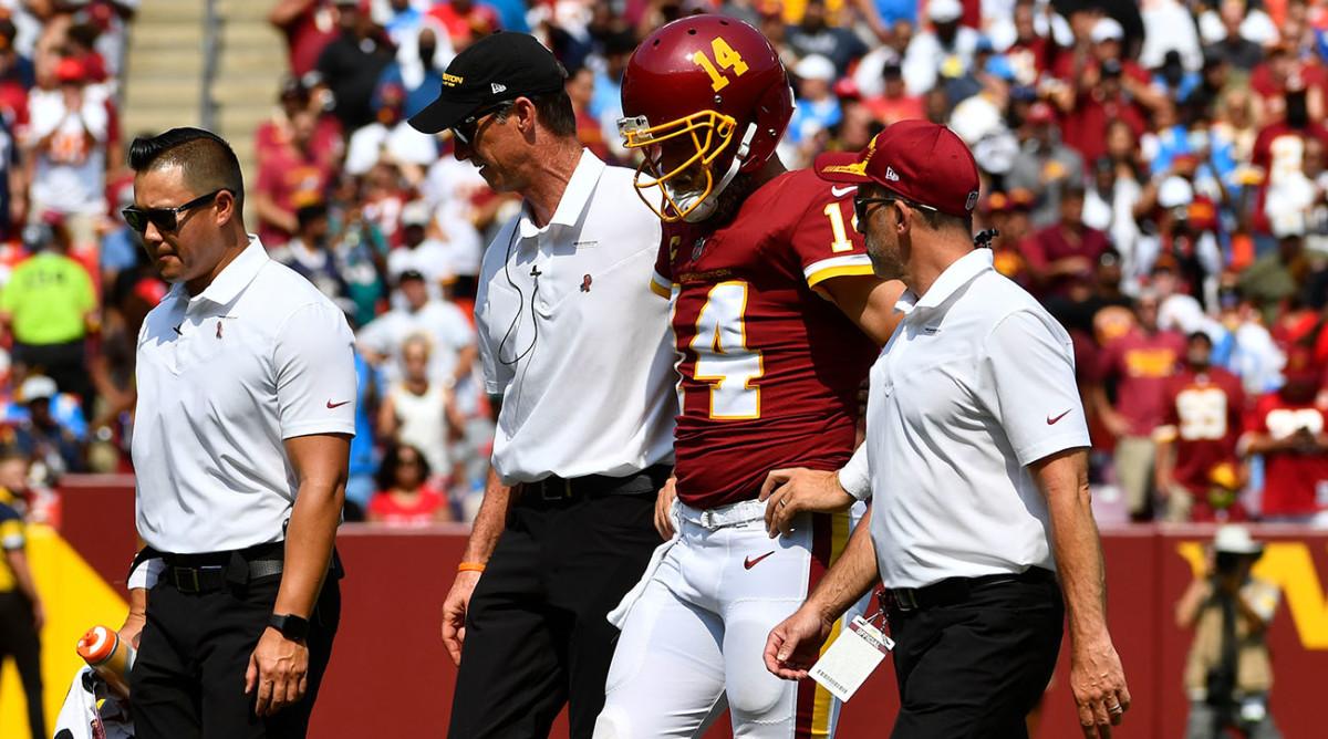Washington Football Team quarterback Ryan Fitzpatrick