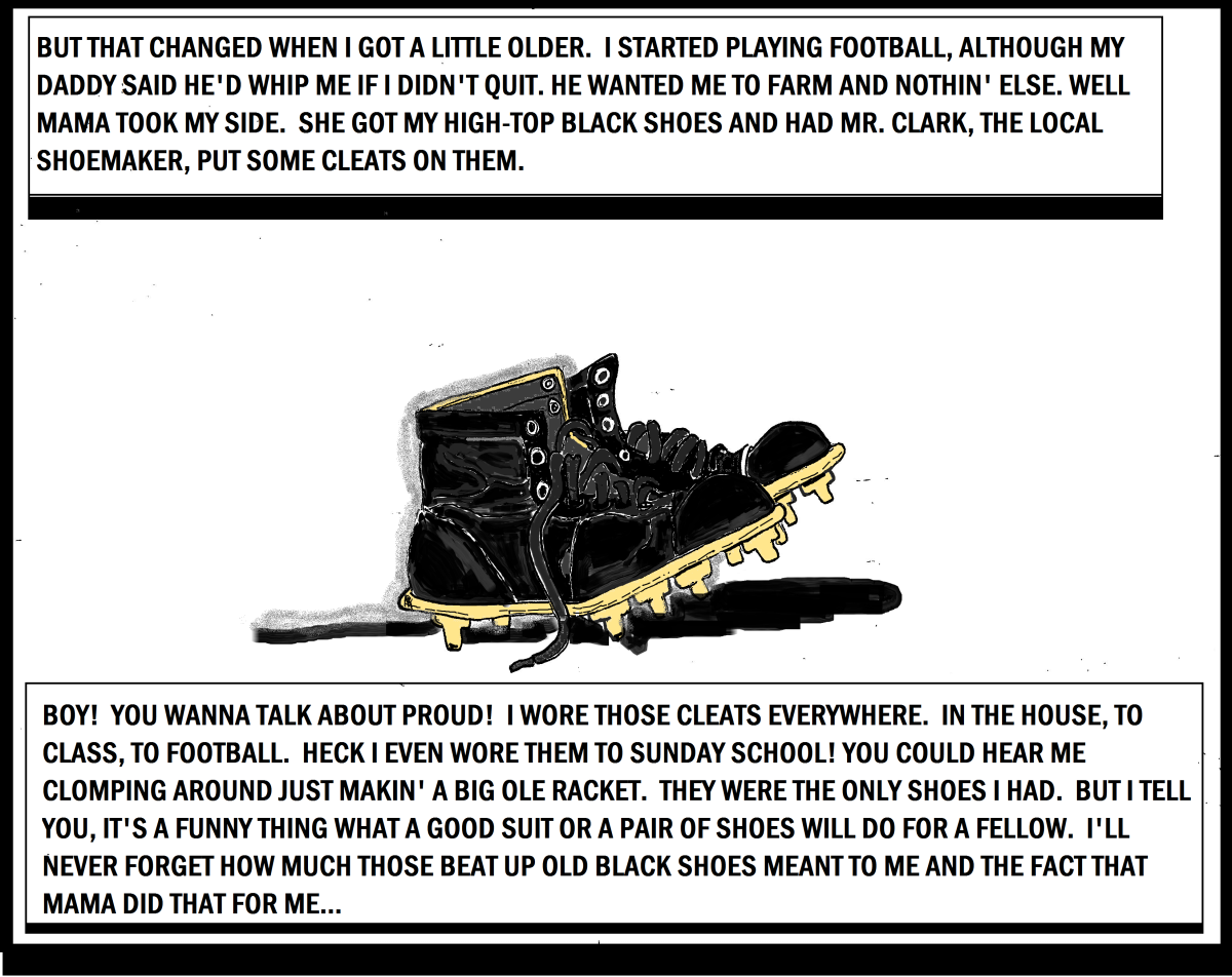 Crimson Tikes Guts and Glory: Old Football Cleats
