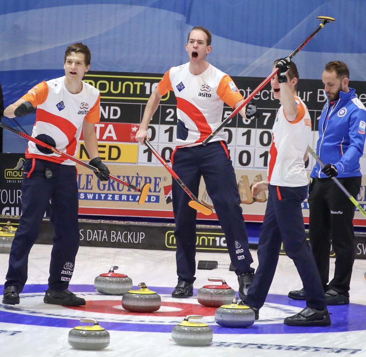 Netherlands won their first men's worlds berth at the 2017 Euros • Richard Gray-WCF