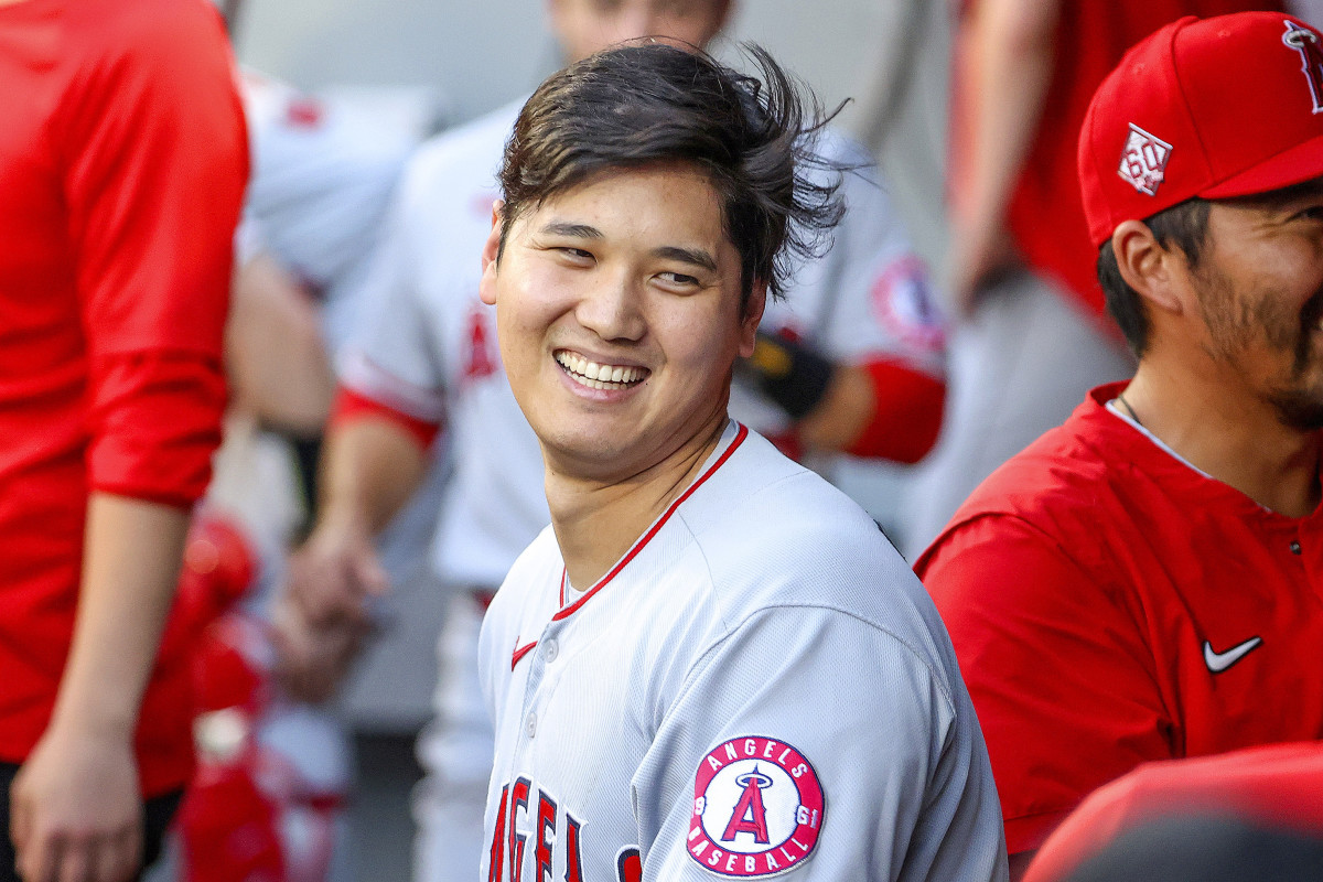 """""""When you hear his high-pitched giggle in the dugout, everything is right in the world,"""" says Angels manager Joe Maddon of Ohtani."""