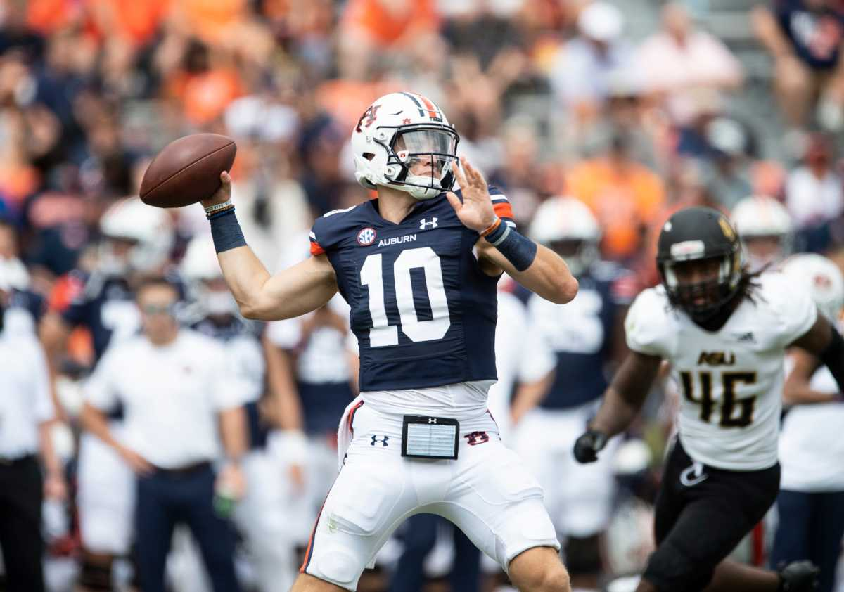 Auburn and its QB Bo Nix rolled over its first two opponents, but now must go to Happy Valley and play Penn State