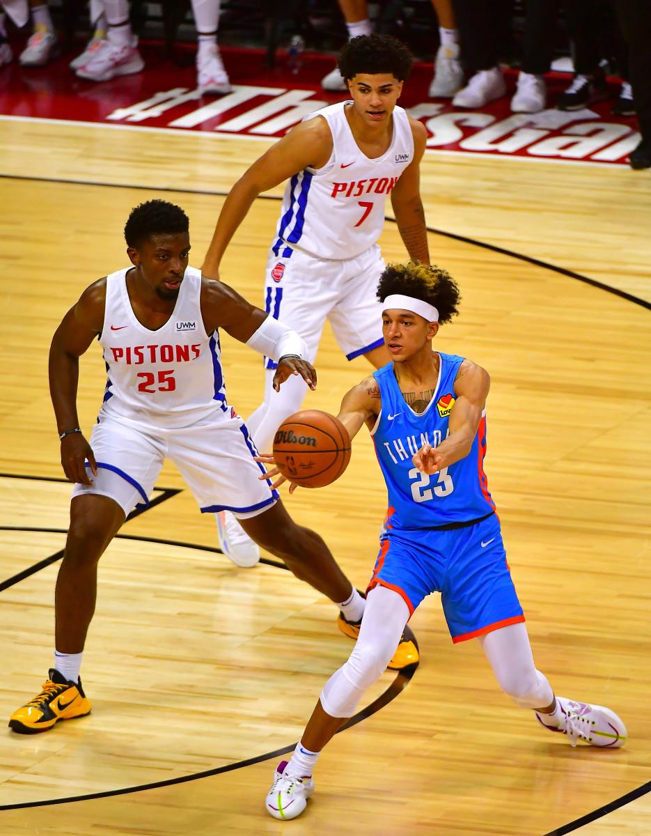 Tre Mann, Detroit Pistons, Summer League