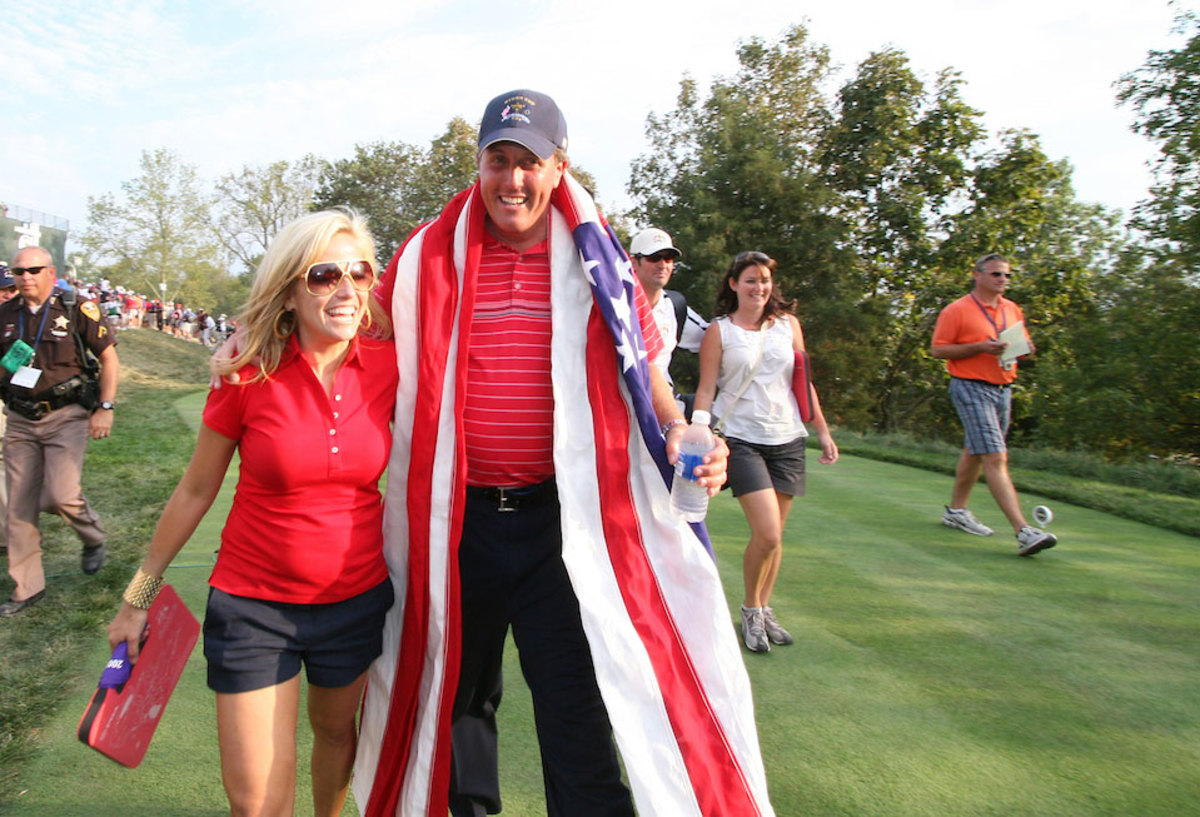 Phil and Amy Mickelson at Valhalla in 2008.