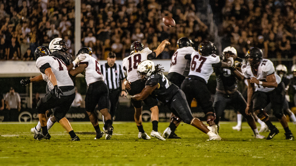 Keep the pressure on the quarterback will be very important for the Knights