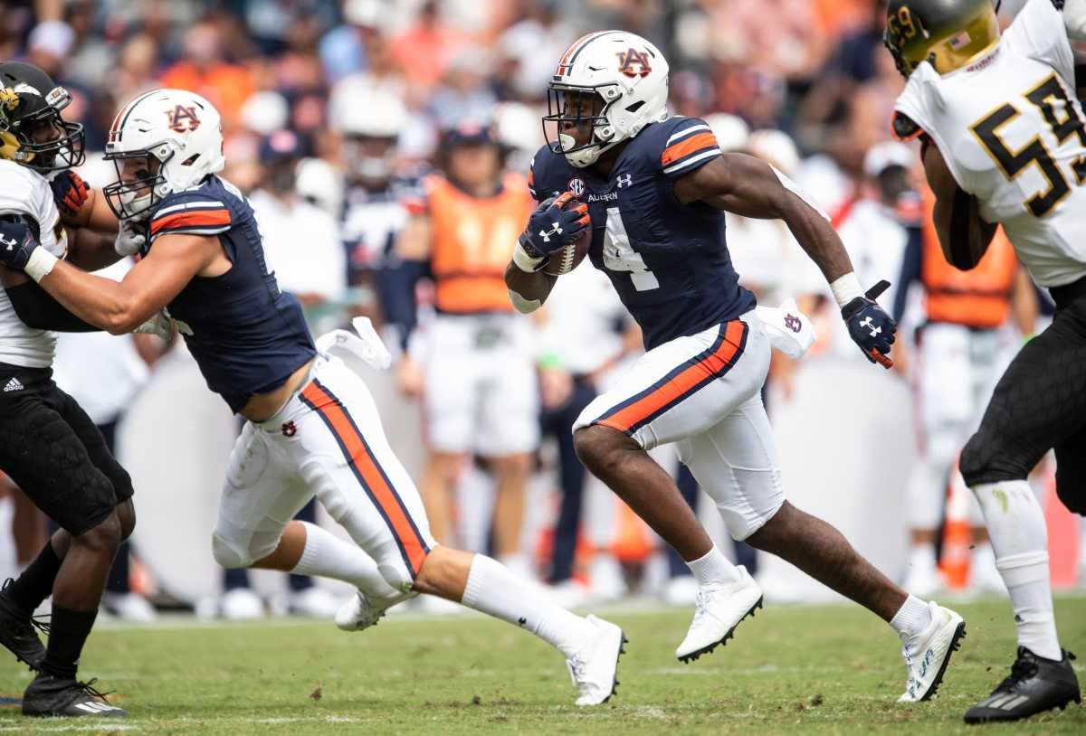 Auburn running back Tank Bigsby (Jake Crandall/Montgomery Advertiser)