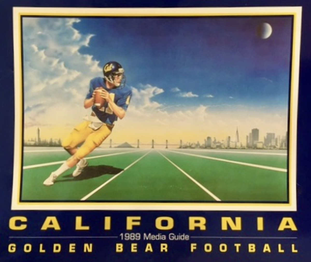 Troy Taylor on Cal's 1989 media guide cover