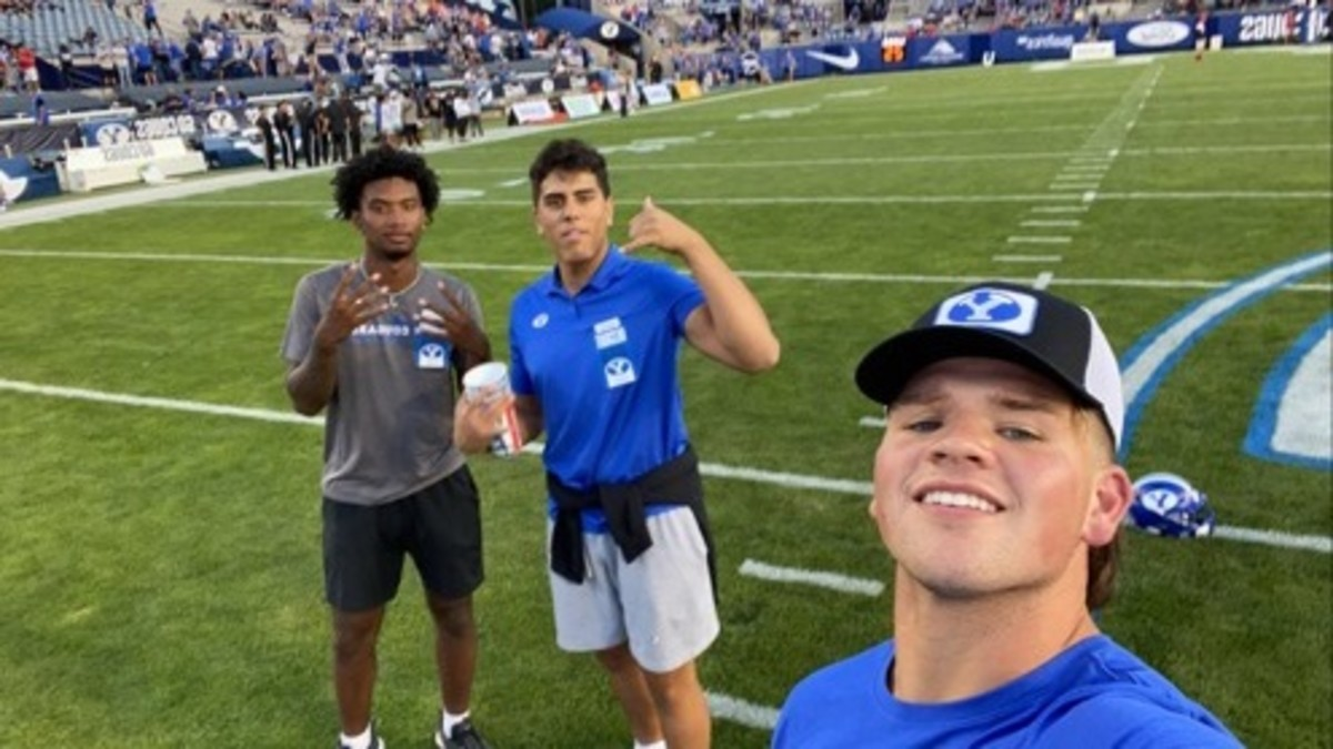 BYU targets Walker Lyons, Spencer Fano, and Javance Tupouata-Johnson. Photo credit: Twitter @walkerly0ns