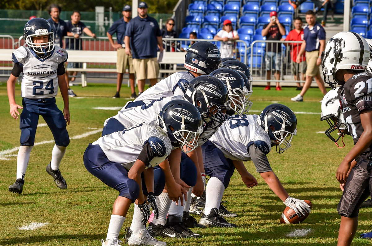 Pop Warner is easing into all of its players starting up.