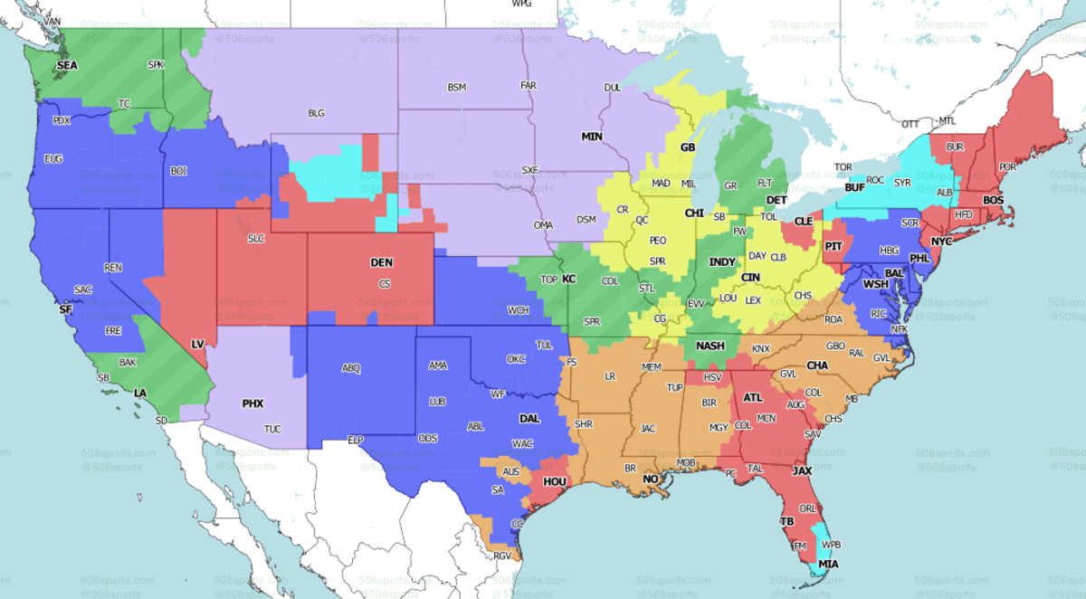 Saints-Panthers are projected in orange for Week 2