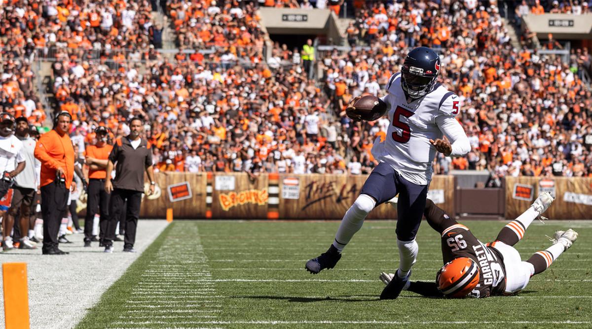 Lesión de Tyrod Taylor: Texans QB descartado contra Browns (tendón de la corva)
