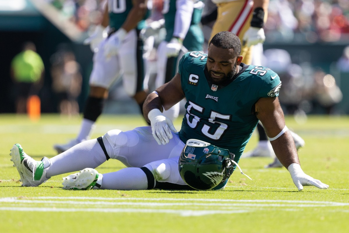 Brandon Graham suffered what looked to be a serious injury against the 49ers