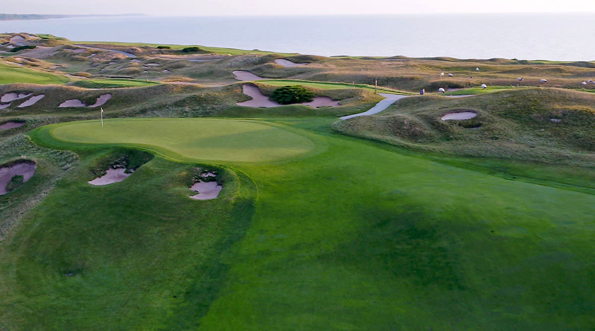 The 10th hole at Whistling Straits.