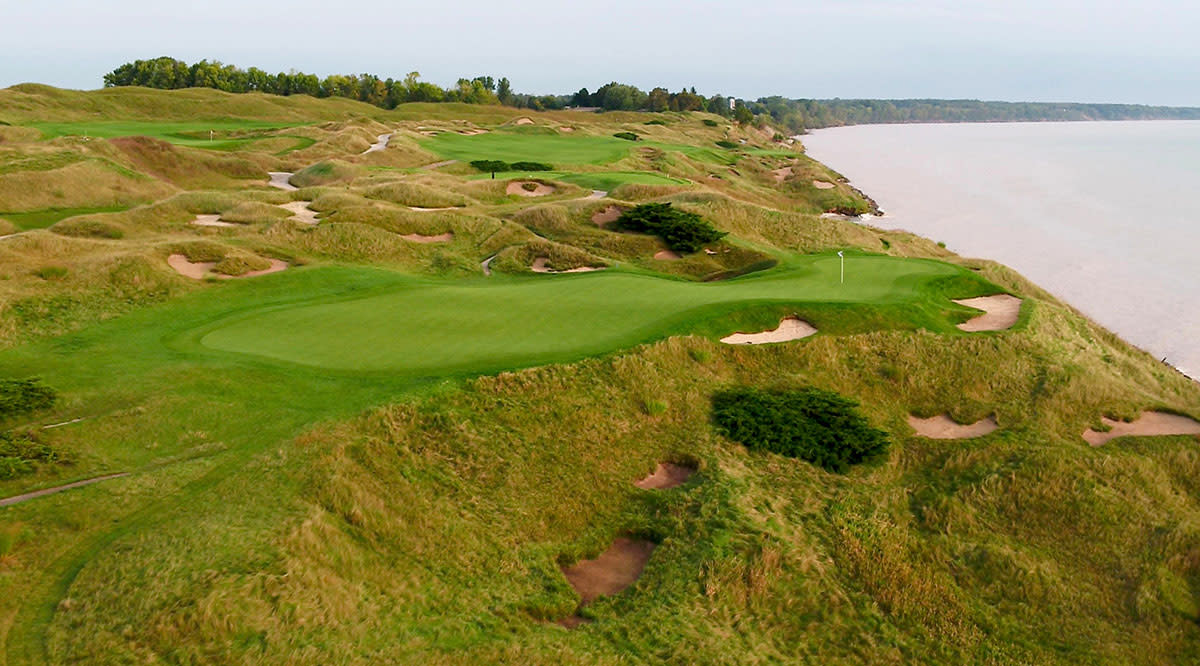 The 12th hole at Whistling Straits.
