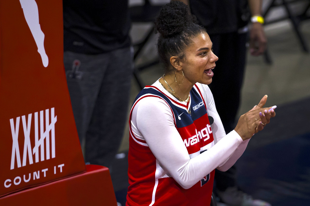 Mystics forward Alysha Clark was initially hesitant about the COVID vaccine, but was persuaded by the WNBPA's approach.