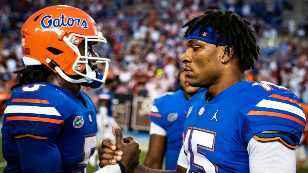 Florida Gators quarterbacks Emory Jones and Anthony Richardson