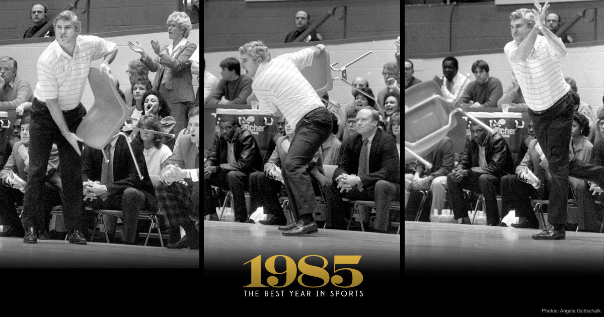 bobby knight chair throw All the Rage: Bobby Knight's infamous 'Chair Game', 30 years later  bobby knight chair throw