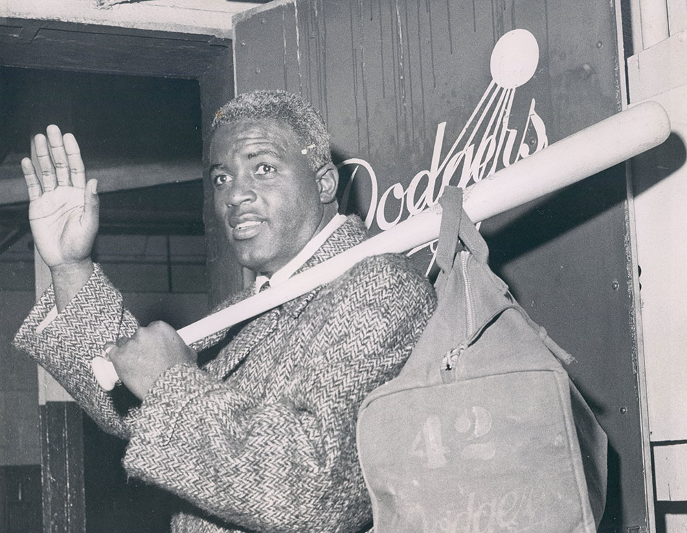 the life contributions and baseball career of jackie robinson Jackie robinson holds his son, jackie  even in the last year of his career,  life sagging veteran jackie robinson rests in the locker room after.
