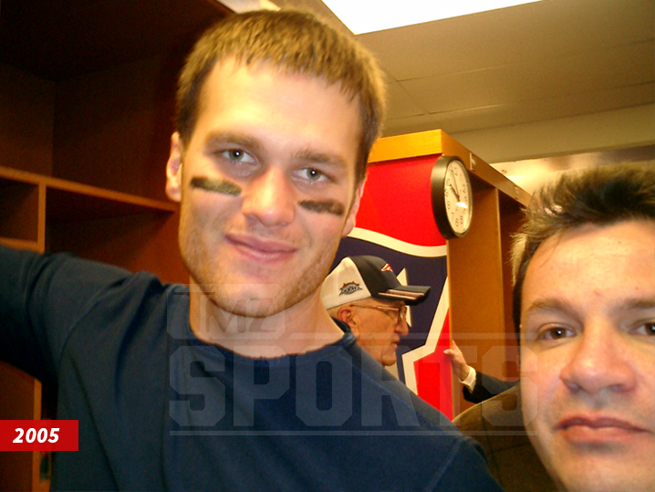 f4a777a5b A selfie Ortega took with Brady following Super Bowl XXXIX in 2005.